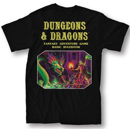 DUNGEONS & DRAGONS BASIC RULE BOOK BLK T/S LG (C: 1-1-0)