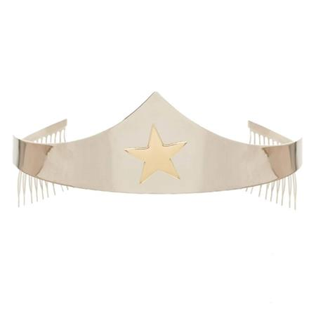 DC COMICS WONDER WOMAN SILVER TIARA W/ GOLD STAR (C: 1-1-2)