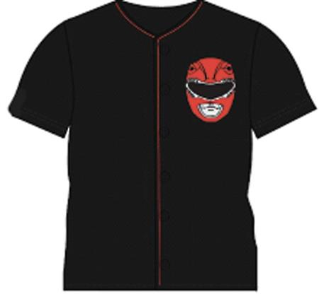 POWER RANGERS RED RANGER BLACK BASEBALL T/S LG (C: 1-1-0)