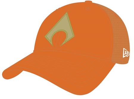 AQUAMAN SYMBOL WASHED TRUCKER SNAP BACK CAP (C: 1-1-2)