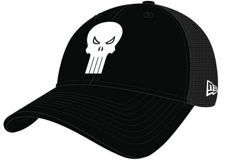 PUNISHER SYMBOL WASHED TRUCKER SNAP BACK CAP (C: 1-1-2)