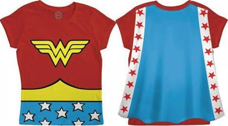 DC WONDER WOMAN LOGO CAPE T/S 4T (Net) (C: 1-0-2)