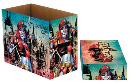 DC COMICS HARLEY QUINN GOTHAM 5 PK SHORT COMIC STORAGE BOX (