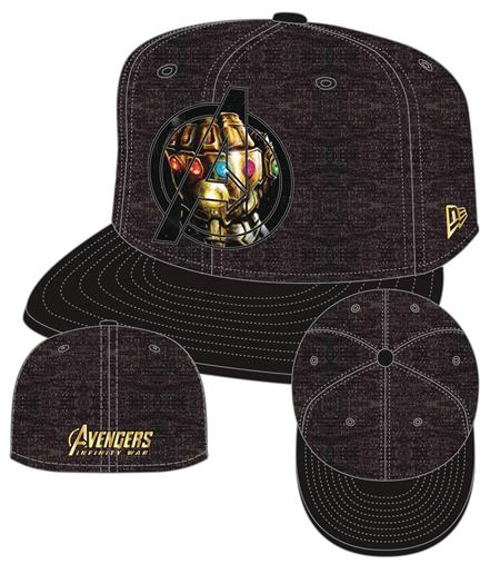 AVENGERS IW AVENGERS LOGO GAUNTLET 5950 FITTED CAP 7 5/8 (C: