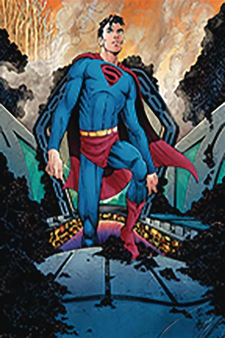 DF SUPERMAN YEAR ONE #1 GOLD SGN ROMITA JR