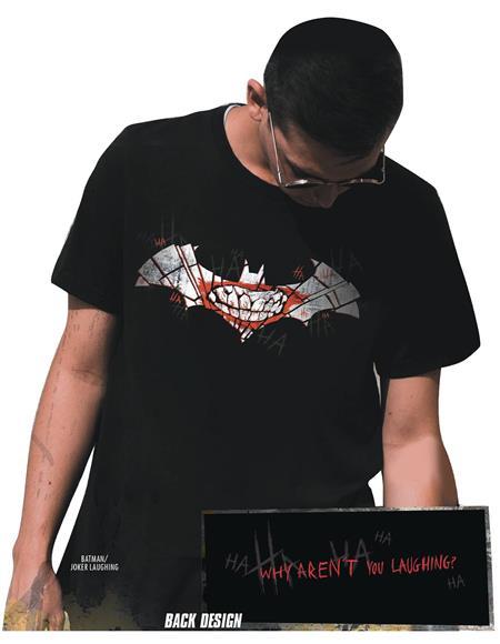 BATMAN/JOKER LAUGHING SYMBOL T/S LG (C: 1-1-2)