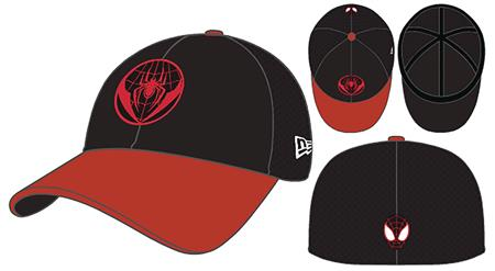 SPIDER-MAN MILES MORALES BLACK & RED PX NEO 3930 FLEXFIT CAP