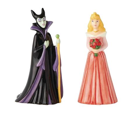 DISNEY AURORA AND MALEFICENT SALT & PEPPER SHAKERS (C: 1-1-2