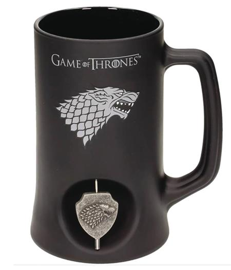 GAME OF THRONES STARK CREST 3D ROTATING BLACK STEIN (C: 1-1-