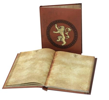 GAME OF THRONES HOUSE LANNISTER SIGIL LIGHT UP NOTEBOOK (C: