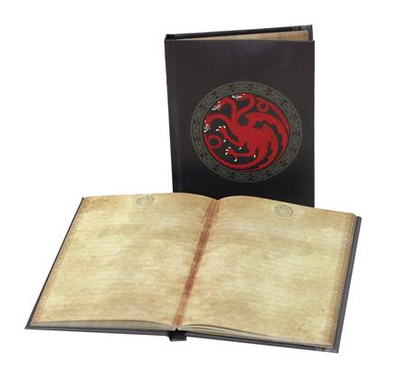 GAME OF THRONES HOUSE TARGARYEN SIGIL LIGHT UP NOTEBOOK (C: