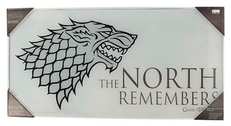 GAME OF THRONES NORTH REMEMBERS TEMPERED GLASS POSTER (C: 1-