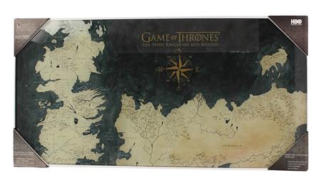 GAME OF THRONES WESTEROS MAP TEMPERED GLASS POSTER (C: 1-1-2