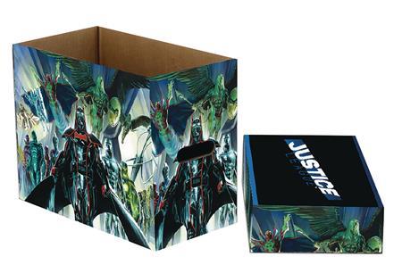 DC COMICS JUSTICE 5PK SHORT COMIC STORAGE BOX (C: 1-1-2)