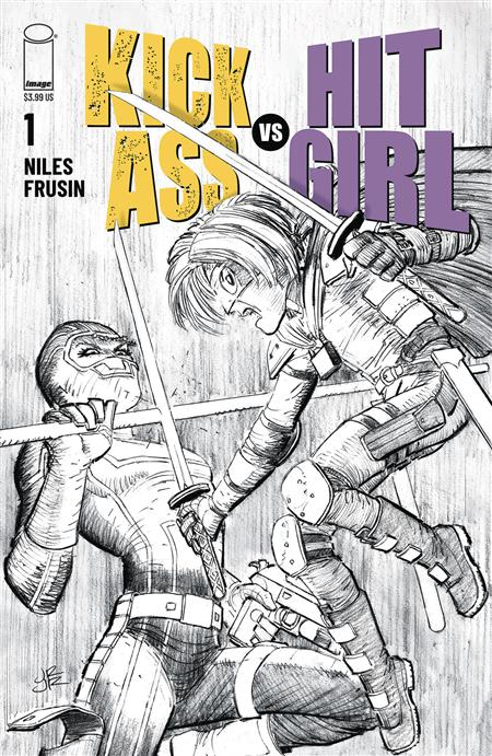 KICK-ASS VS HIT-GIRL #1 (OF 5) CVR B B&W ROMITA JR (MR)
