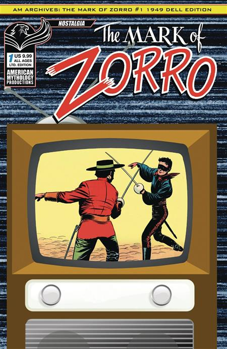 AM ARCHIVES MARK OF ZORRO 1949 1ST APP #1 LTD ED CVR