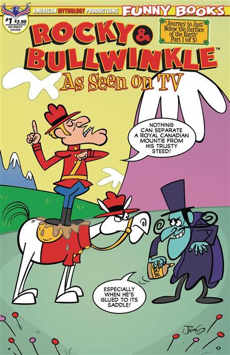 ROCKY & BULLWINKLE SEEN ON TV #1 DUDLEY DORIGHT CVR