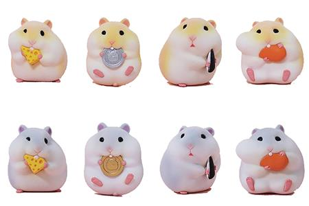 THE GLUTTONOUS HAMSTERS 8PC TRADING FIG BMB DIS (C: 1-1-2)