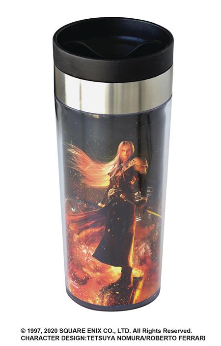 FINAL FANTASY VII REMAKE METALLIC ART TUMBLER SEPHIROTH VER