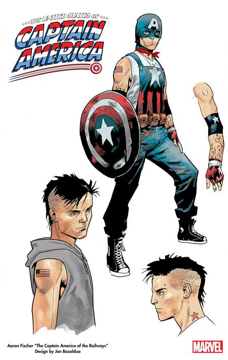 UNITED STATES CAPTAIN AMERICA #1 (OF 5) BAZALDUA DESIGN VAR