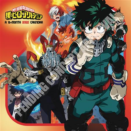 MY HERO ACADEMIA 2022 WALL CALENDAR (C: 1-1-1)