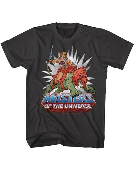 MASTERS OF THE UNIVERSE HE-MAN BLACK T/S LG (C: 1-1-2)