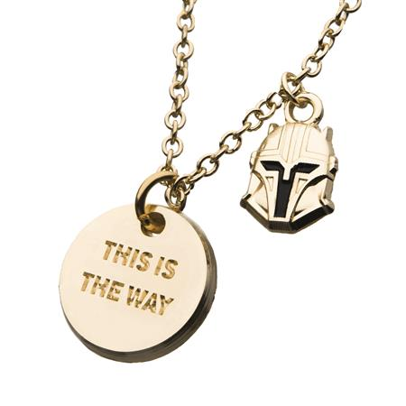 STAR WARS THE MANDALORIAN THIS IS THE WAY NECKLACE (C: 1-1-2