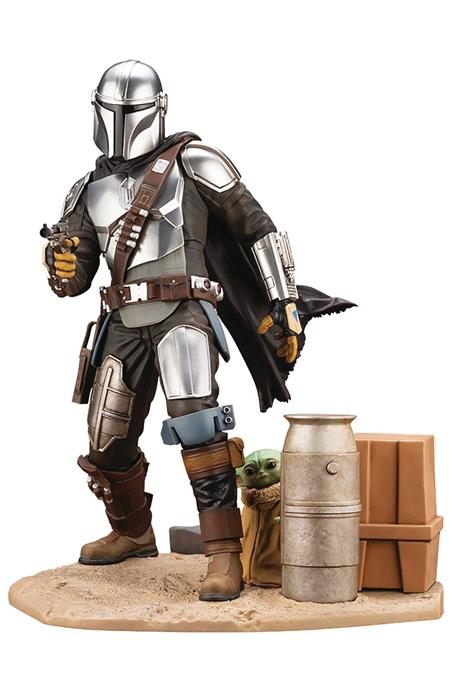 THE MANDALORIAN & THE CHILD ARTFX PVC STATUE (Net) (C: 1-1-2