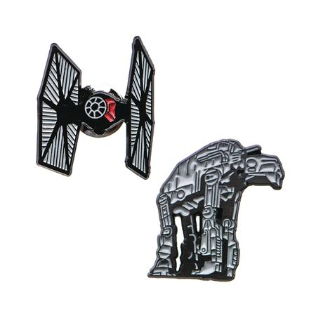 STAR WARS AT-AT AND TIE FIGHTER LAPEL PIN SET (C: 1-1-2)