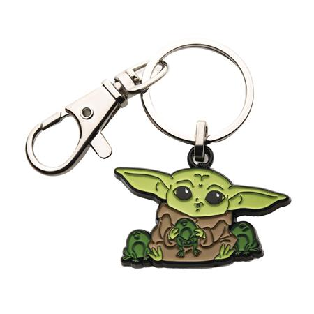 STAR WARS THE MANDALORIAN GROGU WITH FROGS KEYCHAIN (C: 1-1-