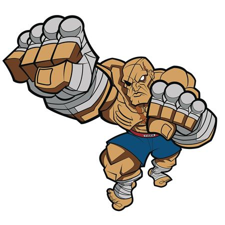 STREET FIGHTER SAGAT ACTION PIN BY TRACY TUBERA (C: 1-1-2)