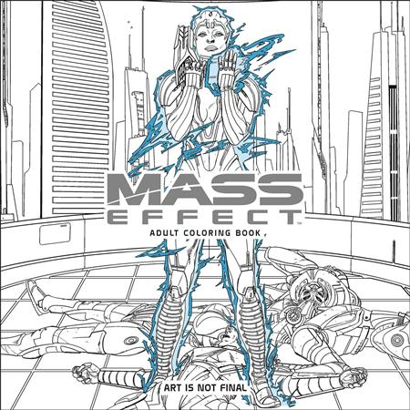 Mass Effect Adult Coloring Book TP - Discount Comic Book Service