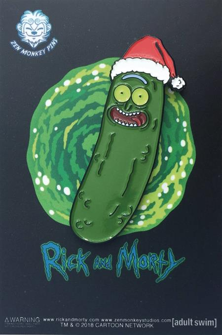 rick and morty santa hat pickle rick pin c 1 1 2