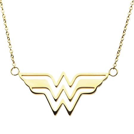 DC WONDER WOMAN GOLD LOGO NECKLACE (C: 1-1-2)