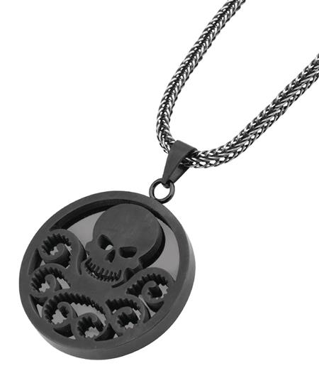 MARVEL HYDRA DARK SILVER LOGO PENDANT W/22IN CHAIN (C: 1-1-2