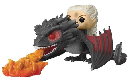 POP RIDES GAME OF THRONES DAENERYS ON FIERY DROGON VIN FIG (