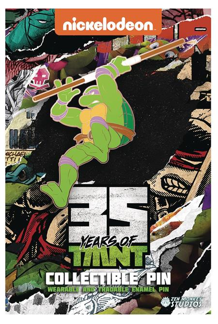 TMNT 35TH ANNIVERSARY LIMITED LEAPING DONATELLO PIN (C: 1-1-