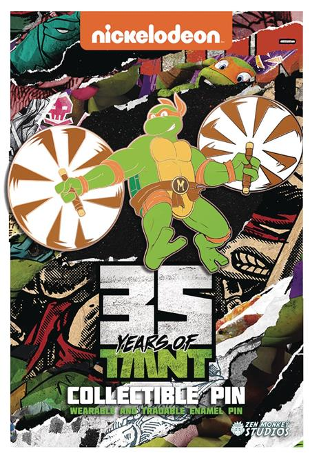 TMNT 35TH ANNIVERSARY LIMITED LEAPING MICHAELANGELO PIN (C: