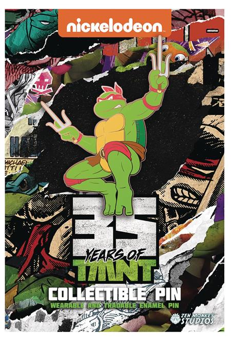 TMNT 35TH ANNIVERSARY LIMITED LEAPING RAPHAEL PIN (C: 1-1-2)