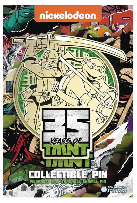 TMNT 35TH ANNIVERSARY OLD MEETS NEW LEONARDO PIN (C: 1-1-2)