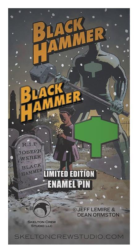 BLACK HAMMER LOGO & EMBLEM LTD EDITION ENAMEL PIN SET (C: 1-