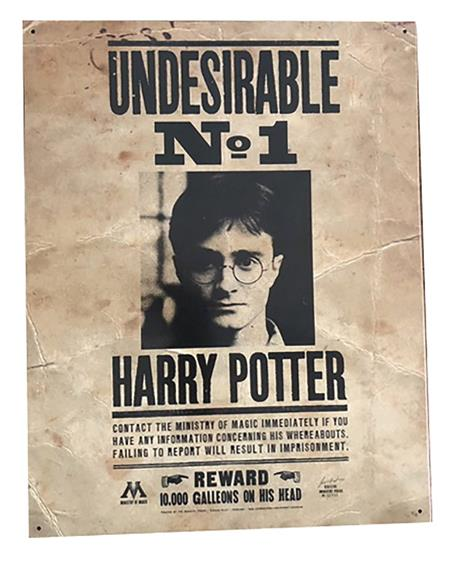 HARRY POTTER NUMBER ONE UNDESIRABLE 12X16 TIN SIGN (C: 1-1-2