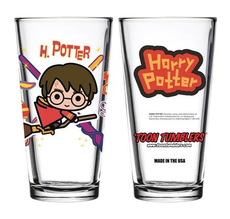 TOON TUMBLERS HARRY POTTER CHARM HARRY W/BROOM GLASS (C: 1-1