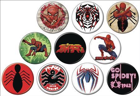 JAPANESE SPIDER-MAN 144PC BUTTON DIS (C: 1-1-2)