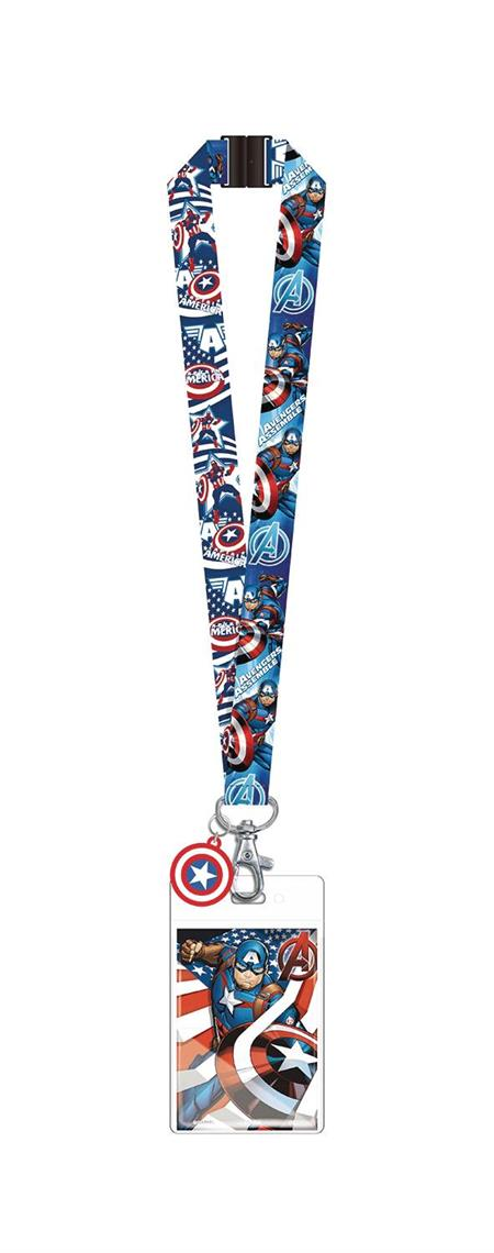 MARVEL CAPTAIN AMERICA LANYARD (C: 1-1-2)