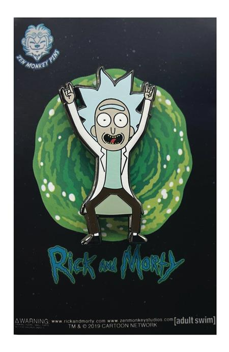 RICK AND MORTY TINY RICK DEVIL HORN HANDS PIN (C: 1-1-2)