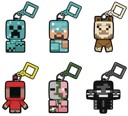 MINECRAFT BOBBLE MOBS BACKPACK CLIP SERIES2 18PC BMB DS (C: