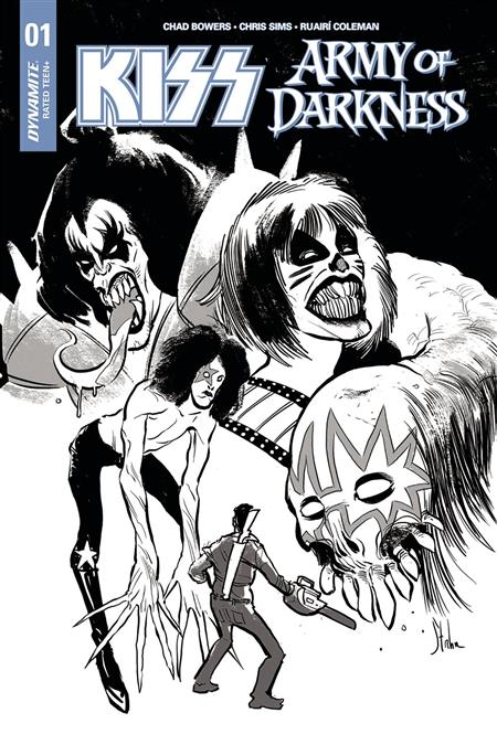 KISS AOD #1 (OF 5) CVR D 10 COPY STRAHM B&W INCV (Net)