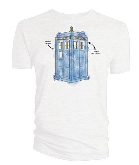 DR WHO TARDIS WATERCOLOR PX WHITE T/S LG (C: 0-1-1)