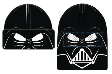 STAR WARS DARTH VADER FACE FLIP KNIT MESH BEANIE (C: 1-1-2)
